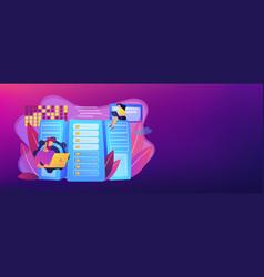 big data storage concept banner header vector image