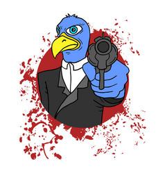 Bird criminal vector