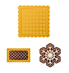 biscuit and bake logo vector image