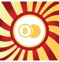 Bitcoin coin abstract icon vector