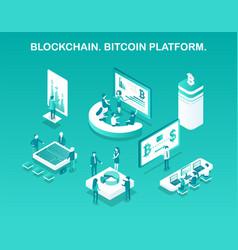 Blockchain bitcoin platform vector