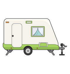 camp trailer icon transportation for tourist vector image