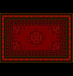 Carpet in red tones with a swirling pattern vector