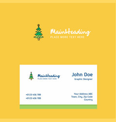 christmas calendar logo design with business card vector image