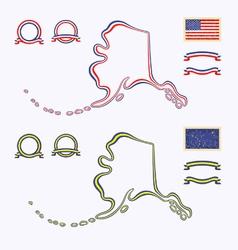 Colors alaska usa vector