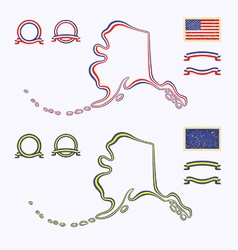 Colors of Alaska USA vector image
