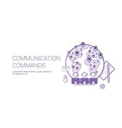 Communication commands global network technology vector