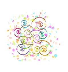 confetti and spirals vector image