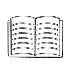 contour school notebook open to study icon vector image