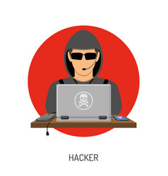 cyber crime with hacker avatar vector image