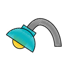 Desk lamp isolated icon vector