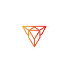 Diamond monoline logo icon element vector