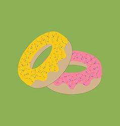 Donut bagel icon vector