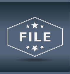 file hexagonal white vintage retro style label vector image