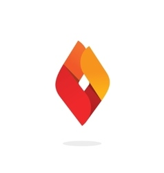 Fire flame logo abstract ignite energy vector image
