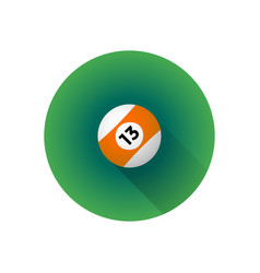 flat color billiard ball vector image