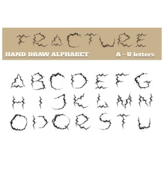 Fracture Alphabet Part One vector image