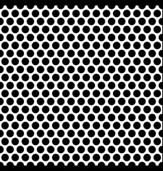 grating pattern with grid mesh of circles vector image