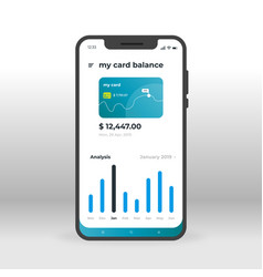 Green online banking ui ux gui screen for mobile vector
