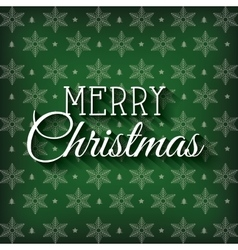 Greeting merry christmas green graphic vector