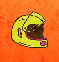 Helmet Cartoon vector image
