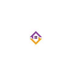 home roof design logo vector image