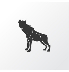 Hyena icon symbol premium quality isolated wolf vector