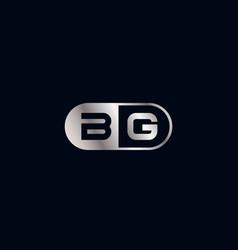 Initial letter bg logo template design vector