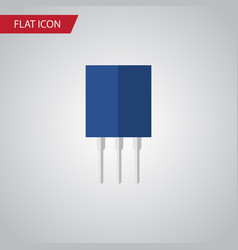 Isolated recipient flat icon receptacle vector