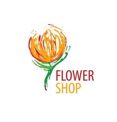 logo for selling flowers abstract vector image