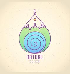 logo nature vector image