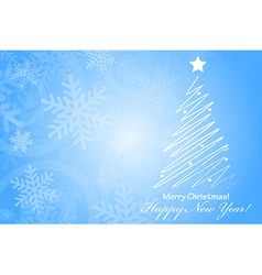 Merry Christmas Happy New Year background with vector image