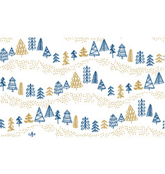 Minimal xmas tree hand drawn sketch pattern vector