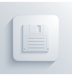 Modern diskette light icon vector