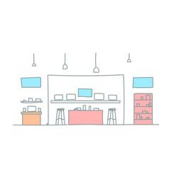 modern electronics store shop interior digital vector image