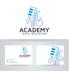 Music academy logo design vector
