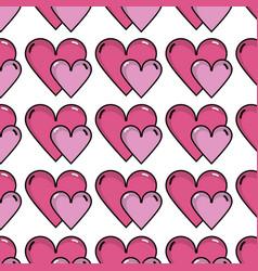 nice romantic hearts decoration background design vector image