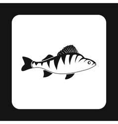Perch fish icon simple style vector image