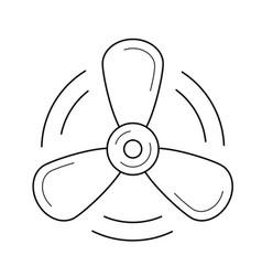 Propeller line icon vector
