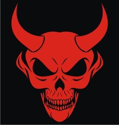 Red Devils Head vector image