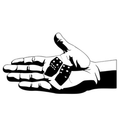 Rolling dice vector