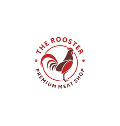 Rooster head logo for chicken meat restaurant vector