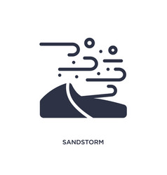 Sandstorm icon on white background simple element vector