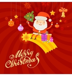 Santa Claus Merry Christmas and happy new year vector