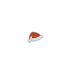 santa hat icon isolated on white background vector image