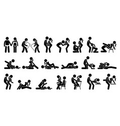 sexual positions kama sutra or kamasutra and vector image