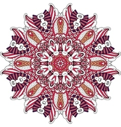 Shield geometric symmetrical shapes over white vector