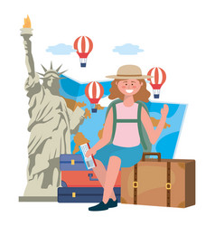 Statue liberty in new york design vector