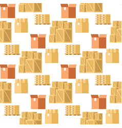Store packaging item collection seamless pattern vector