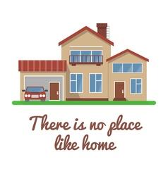 Stylish house vector image